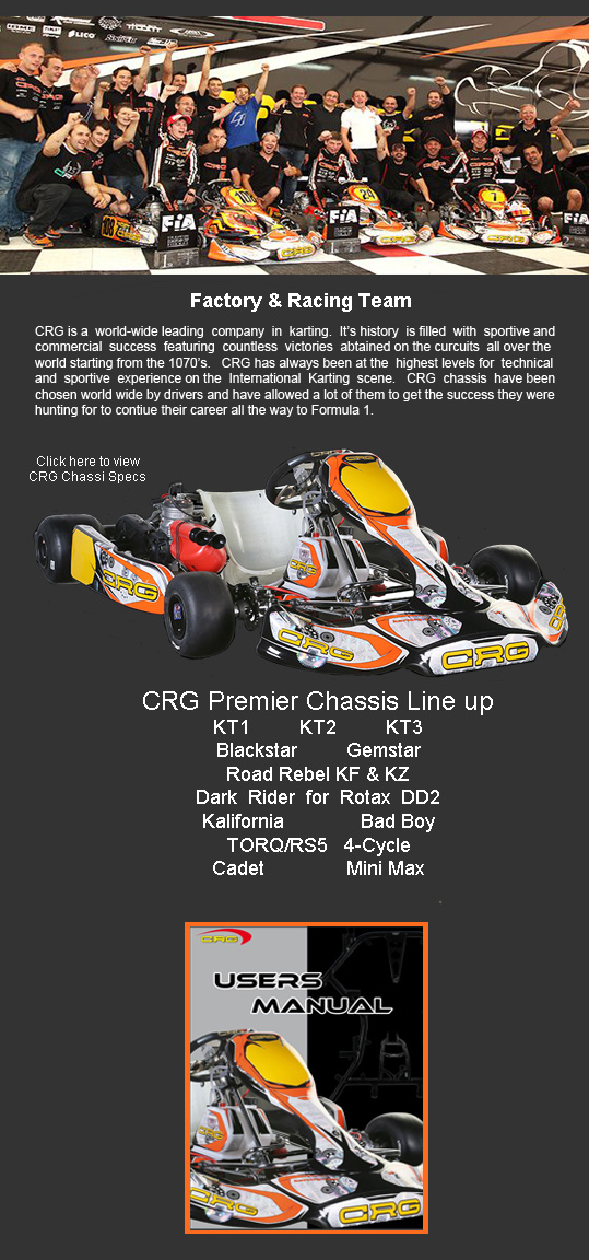 LSR Motorsports - 574-532-6180 - CRG Chassis Sales and Support